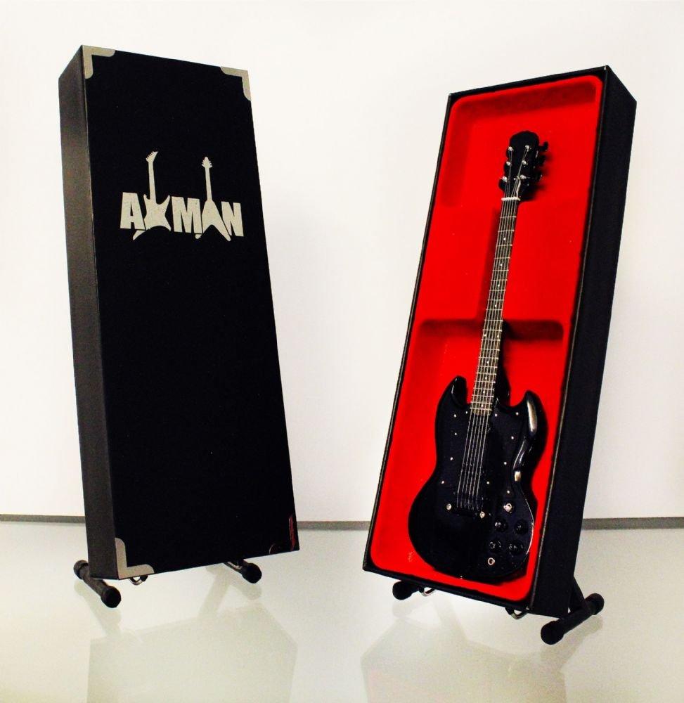 (Black Sabbath) Tony Iommi: SG Custom - Miniature Guitar Replica (UK Seller)